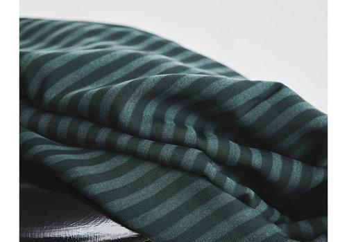 MeterMeter Tencel Twill Meet Milk- Deep Green stripes