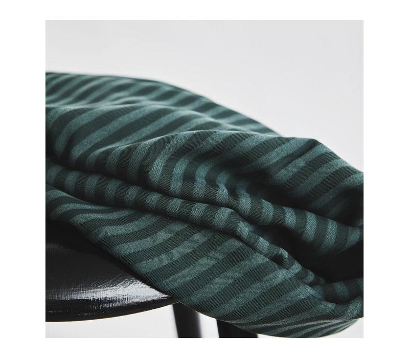 Tencel Twill Meet Milk- Deep Green stripes