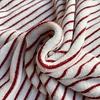 De Stoffenkamer Rekbare badstof - spons stripes red