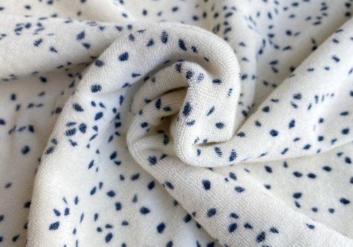 De Stoffenkamer Rekbare badstof - spons confetti blue