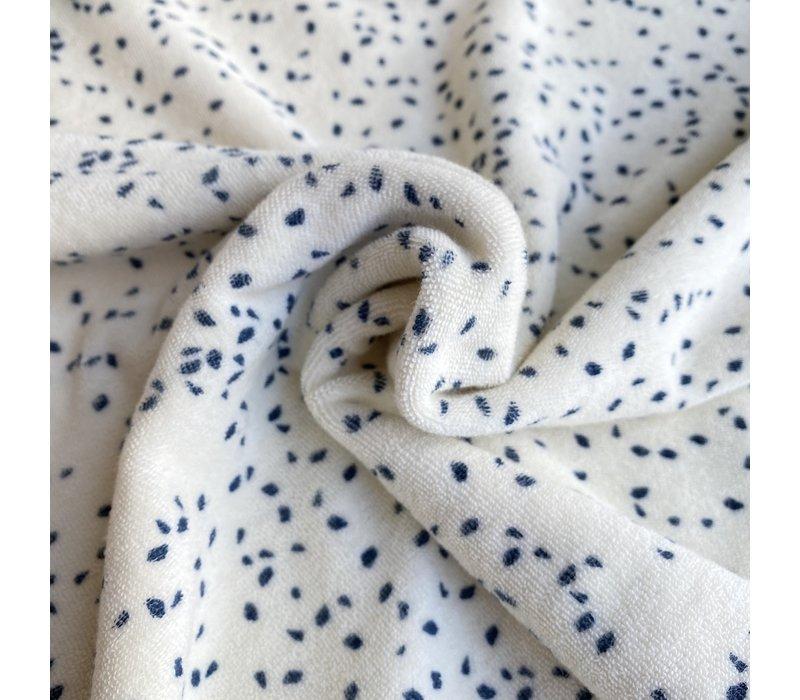 Rekbare badstof - spons confetti blue