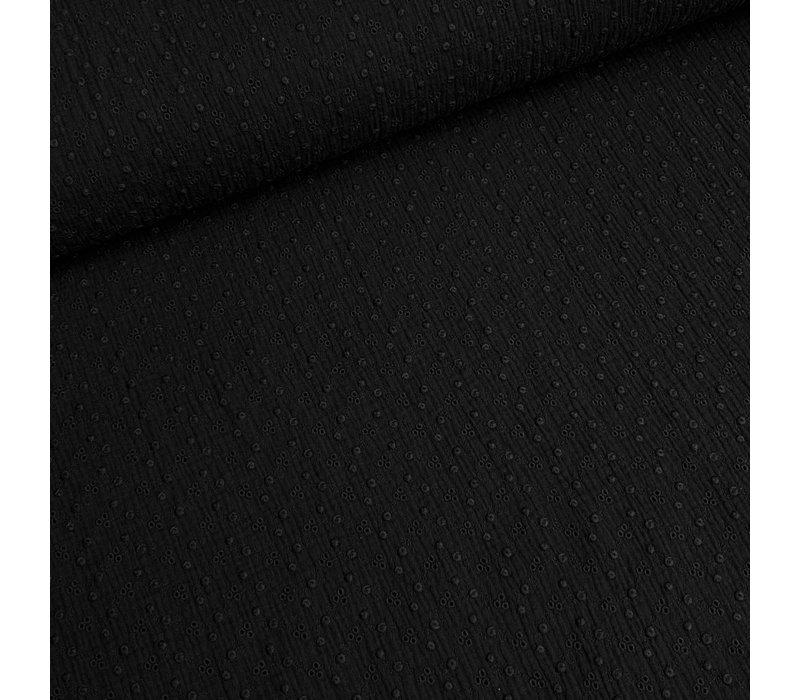 Katoen Broderie Adèle - black