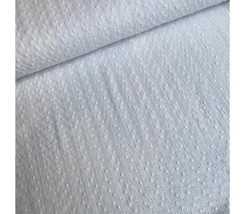 Katoen Broderie Adèle - white