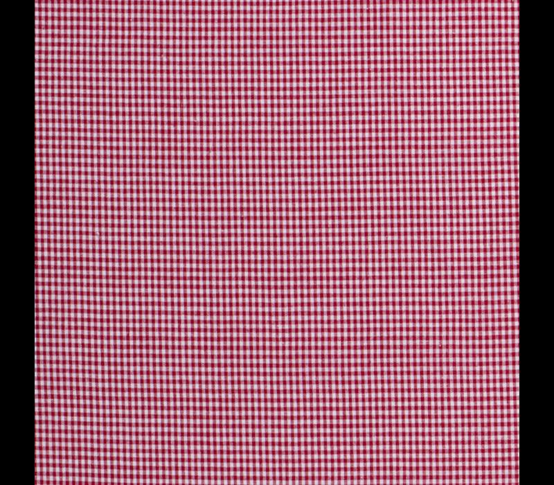 Cotton - mini checks red