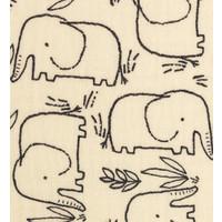 Double Gauze Tetra Elephants creme