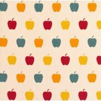 Cotton - multi apples