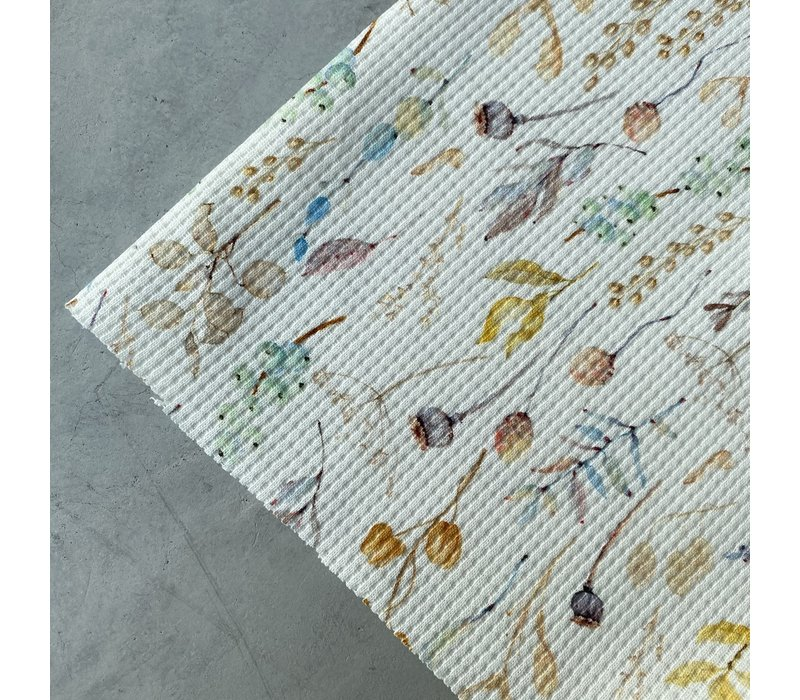 Tricot Waffle - dried flowers creme