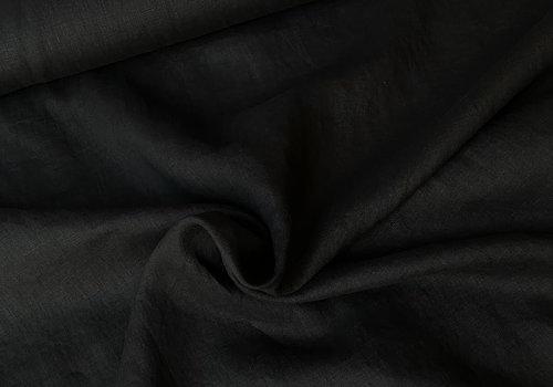 De Stoffenkamer Washed Linen Black