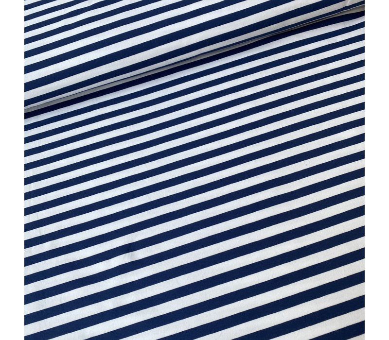 French Terry Blue Stripes