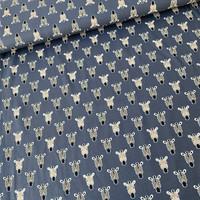 Tricot  Midblue Zebra Metallic Glitter