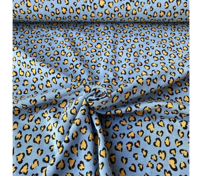 Tricot  Lightblue Leopard