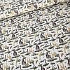 Tricot  Savanna Animals White