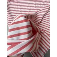 Interlock Picque Tricot - Coralred Stripes