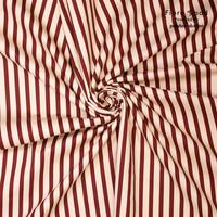 Stretch Cotton Stripes Red - MAYA