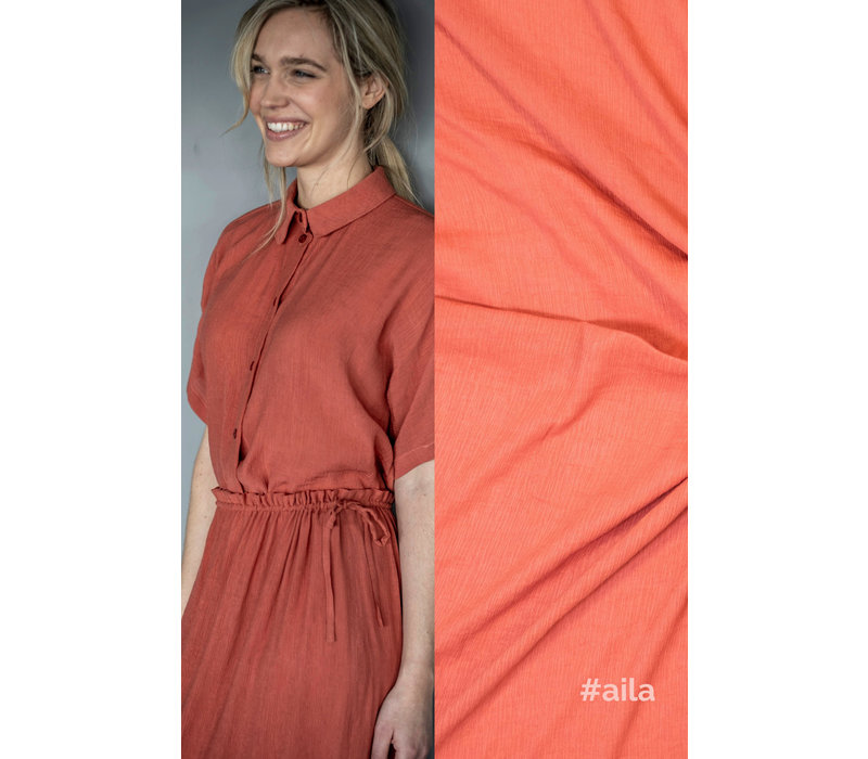 Wrinkle Viscose AILA - Coralred