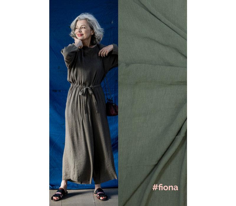 Wrinkle Viscose FIONA - Khaki