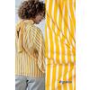 Fibre Mood Crepe Viscose Stripes Oker - GRACE & AILA