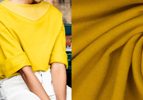 Fibre Mood Warme Sweater Oker - VERA & JOY