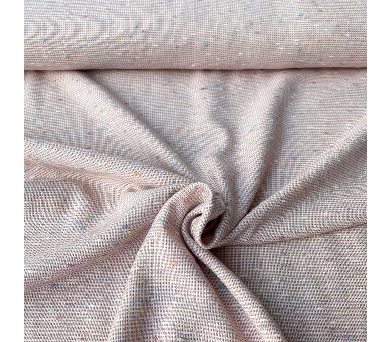 Woven Cotton Pastel Embroided Dots