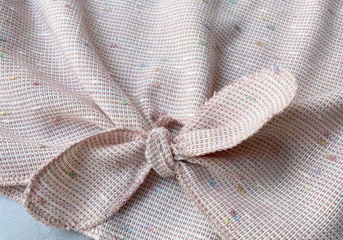 Editex Woven Cotton Pastel Embroided Dots