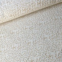 Rekbare badstof - spons confetti ocre