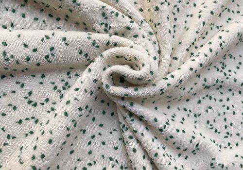 Fibre Mood Rekbare badstof - spons confetti green
