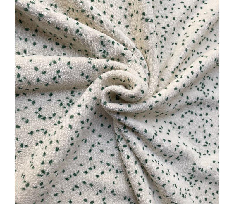 Rekbare badstof - spons confetti green / Lou