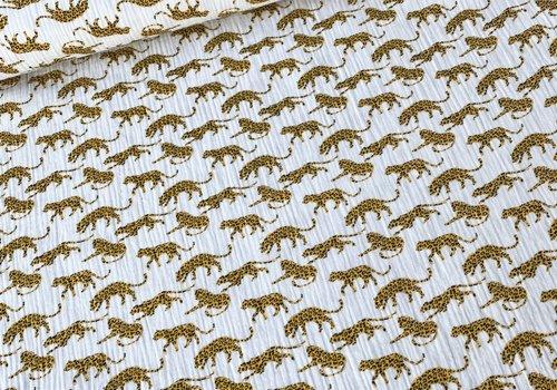 De Stoffenkamer Double Gauze Tetra Leopards
