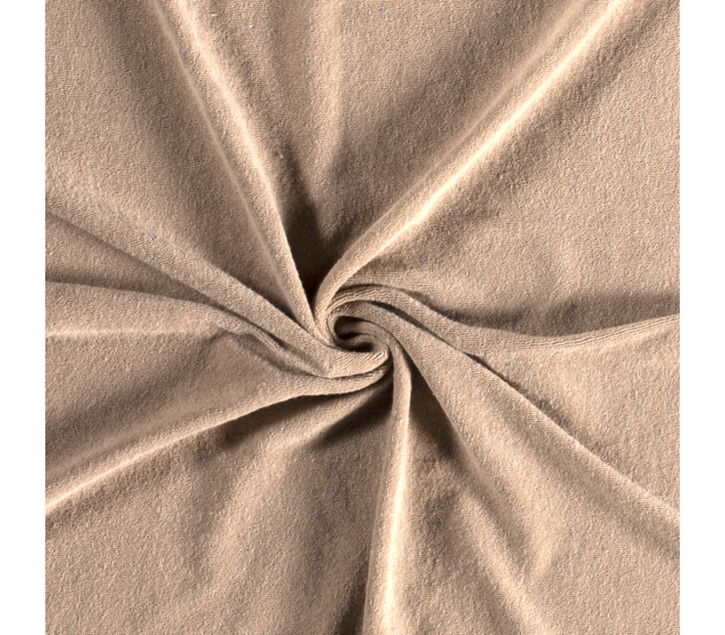 Rekbare badstof - spons sand