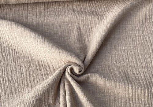 De Stoffenkamer Linen double gauze Sand