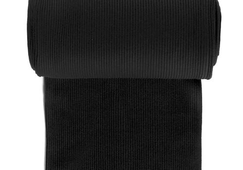 De Stoffenkamer Boordstof Heavy Rib Zwart