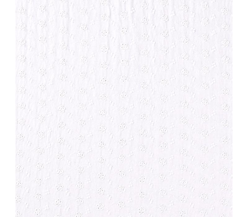 Viscose Tricot Broderie White