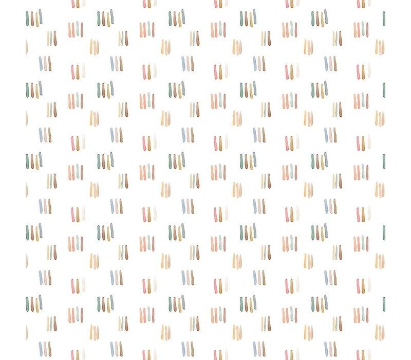 Tricot  Ecru aquarel stripes