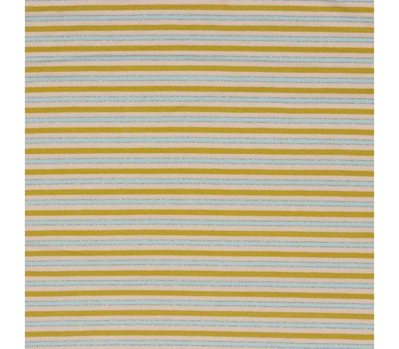 Tricot  pastel metallic stripes