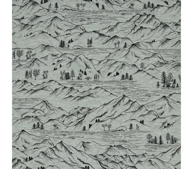 Tricot  Grey Melange  Mountains