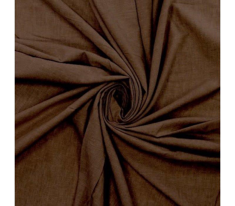 Linen / Cotton Mix Melange Brown