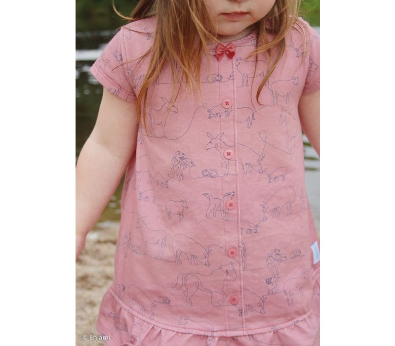 Tricot  Max, Minnie and all - soft pink