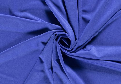 De Stoffenkamer Swimwear Lycra Uni Kobalt