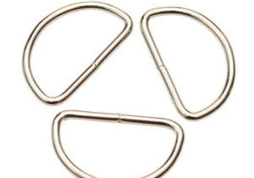 D Ring zilver