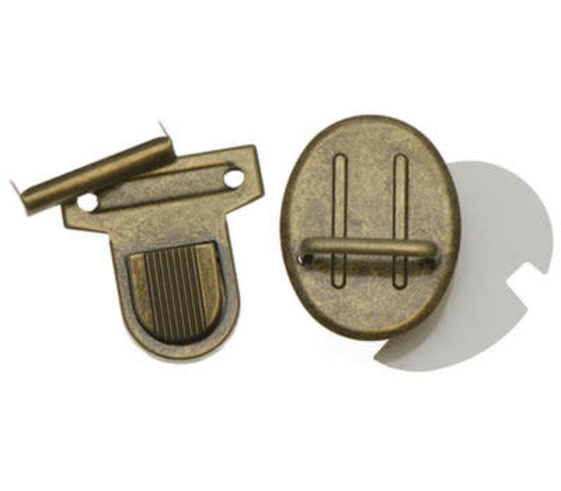Tas sluiting brons