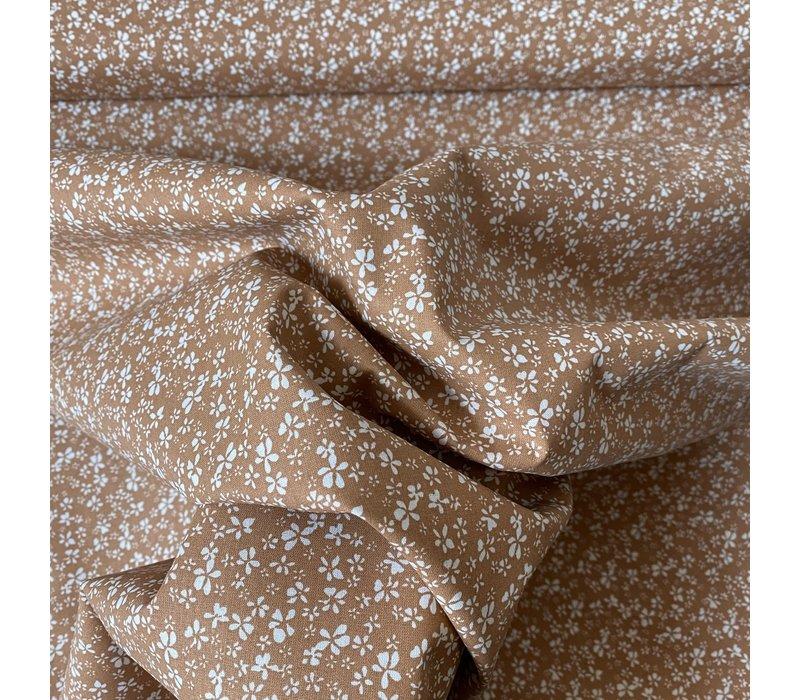 Cotton - Millefleurs flowers soft rust