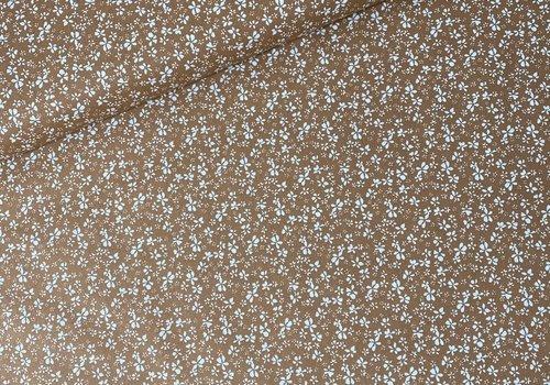 De Stoffenkamer Cotton - Millefleurs flowers soft rust