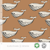 Elvelyckan Bio tricot - Whale Toffee