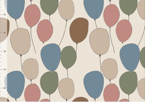 Elvelyckan Bio tricot - Balloons Creme