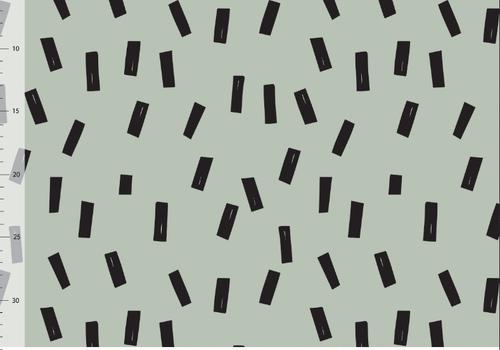 Elvelyckan Bio sweatertricot - Confetti Sea Green
