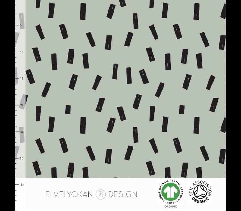 Bio sweatertricot - Confetti Sea Green