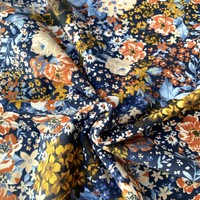 Tricot Navy Forest Flowerfield