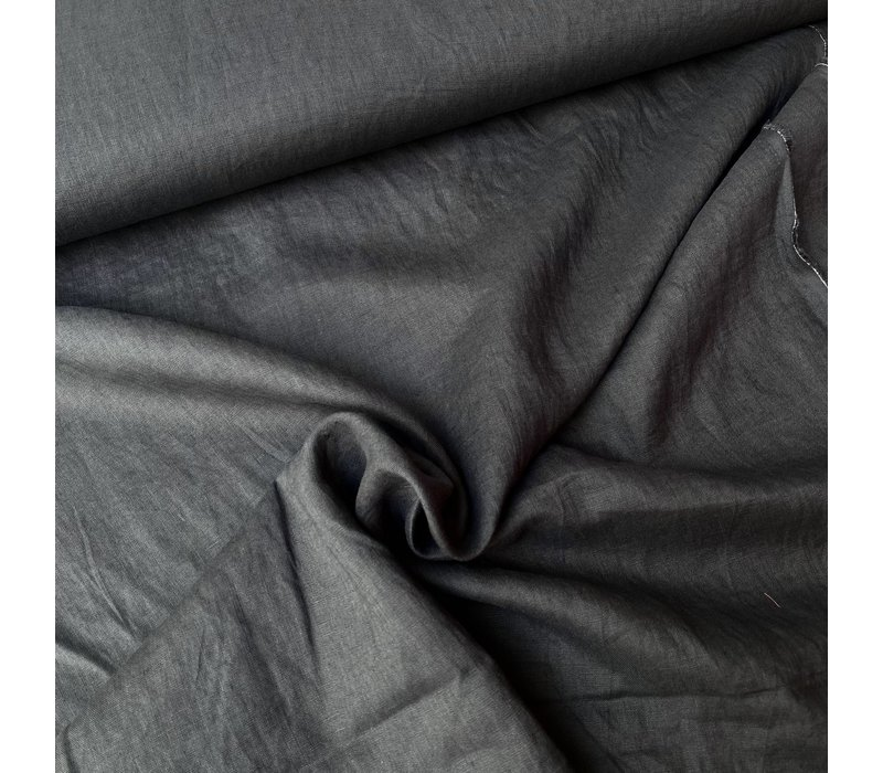 Washed Linen Dark greenish grey