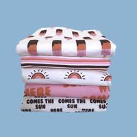 French Terry BIO Retrosummer Stripes