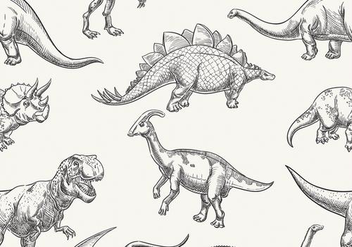 De Stoffenkamer Tricot Digital Dino